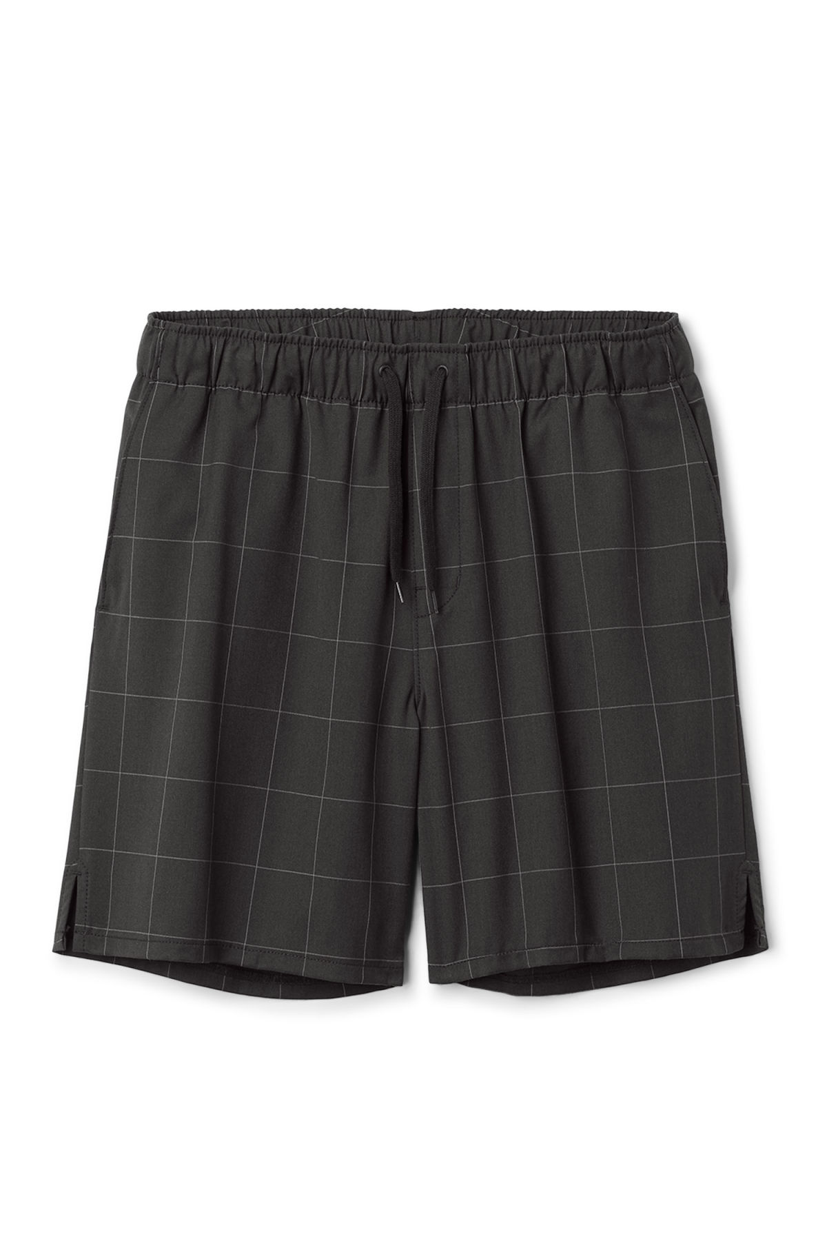 Front image of Weekday pillar shorts in black