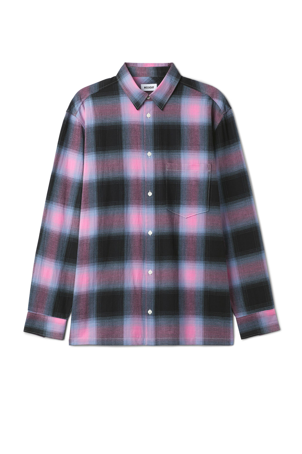 Front image of Weekday sunset shirt in pink