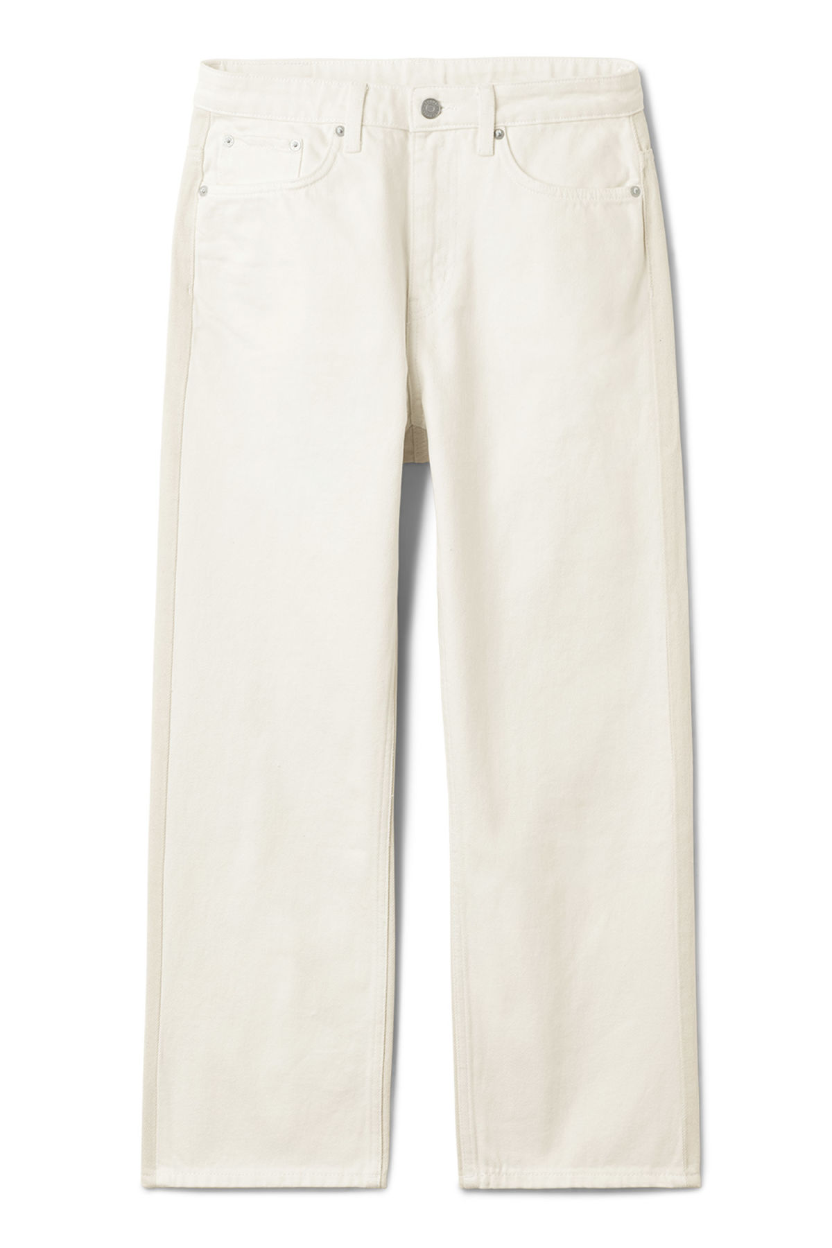 Front image of Weekday voyage 2-tone jeans in white