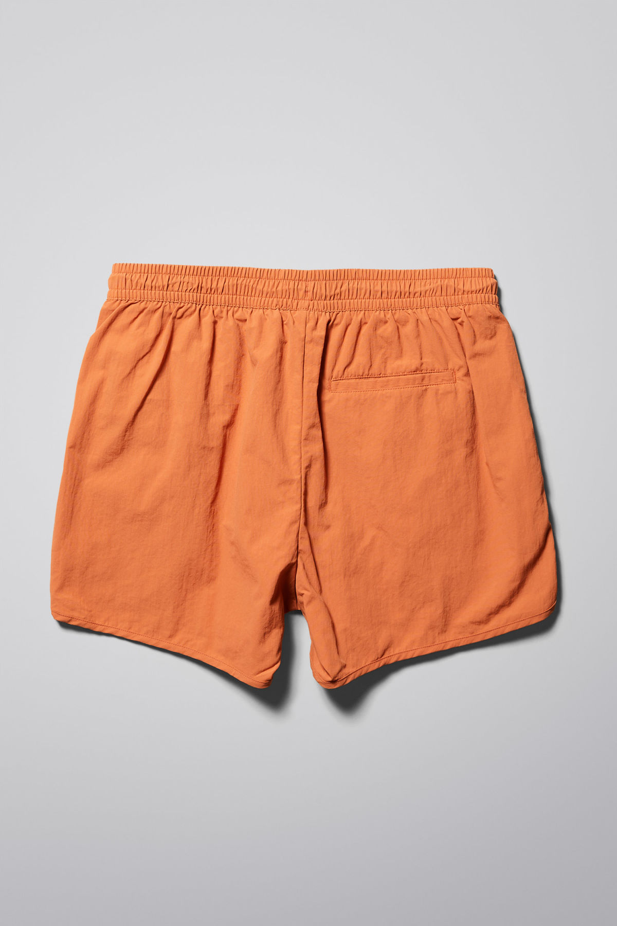 Back image of Weekday tan structure swim shorts in orange