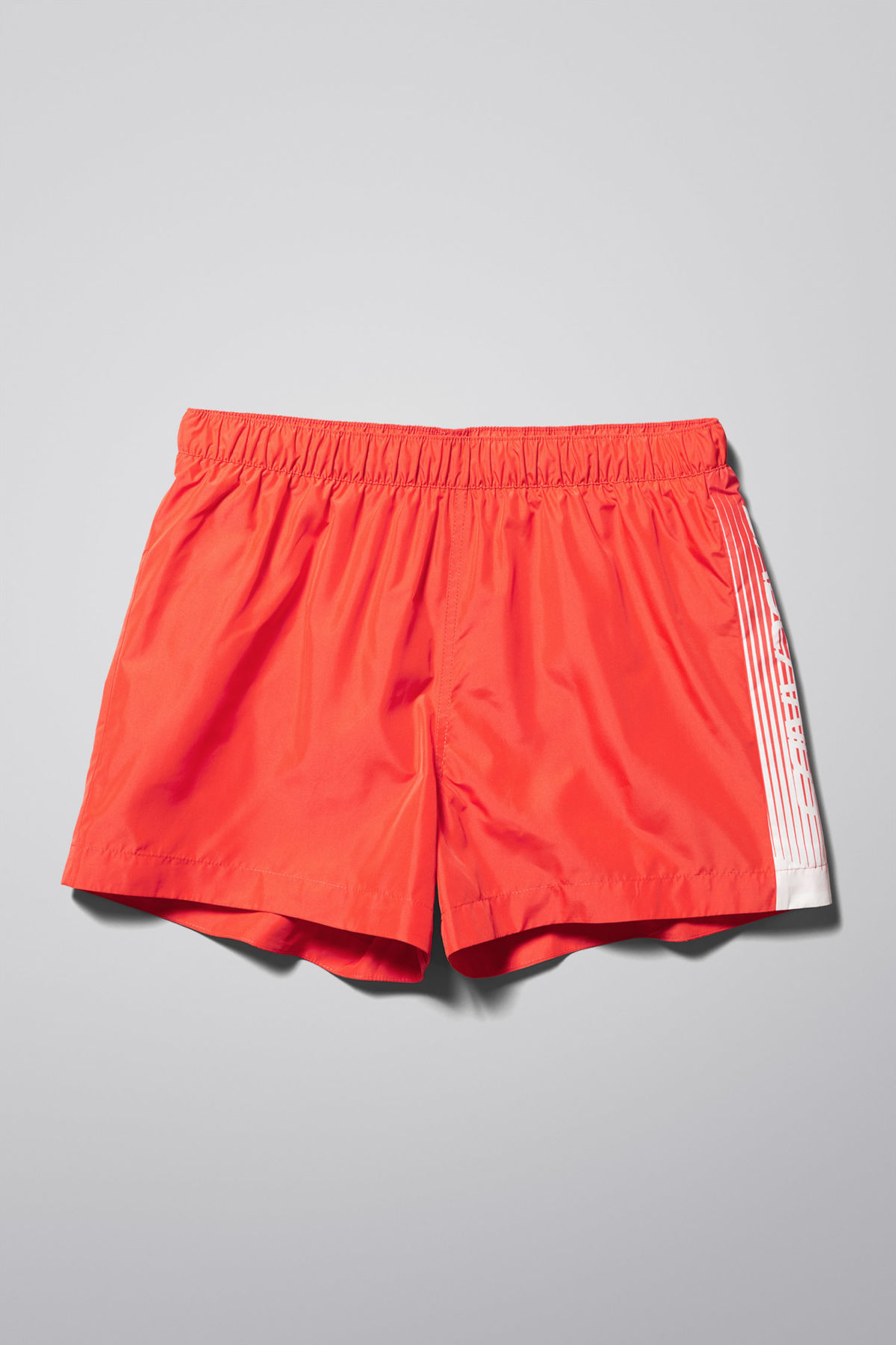 Front image of Weekday newton swim shorts in orange