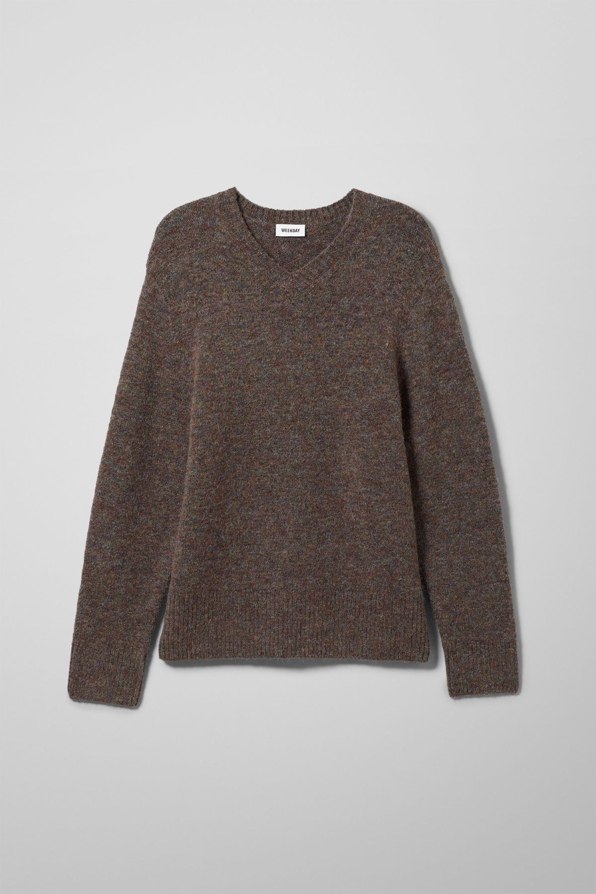 Neck Green Weekday Sweaters Sweater V Danny 7x5wTR8q