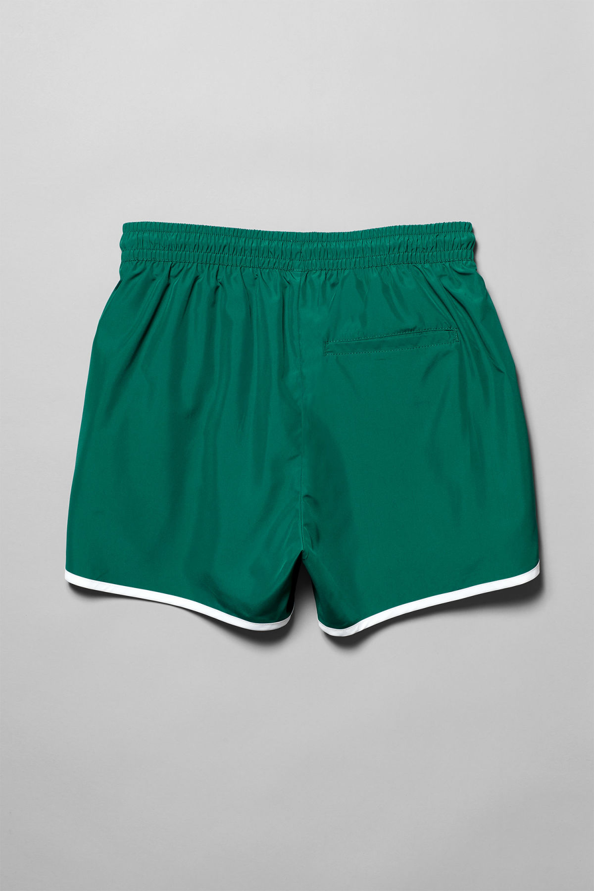 Back image of Weekday tan swim shorts  in green