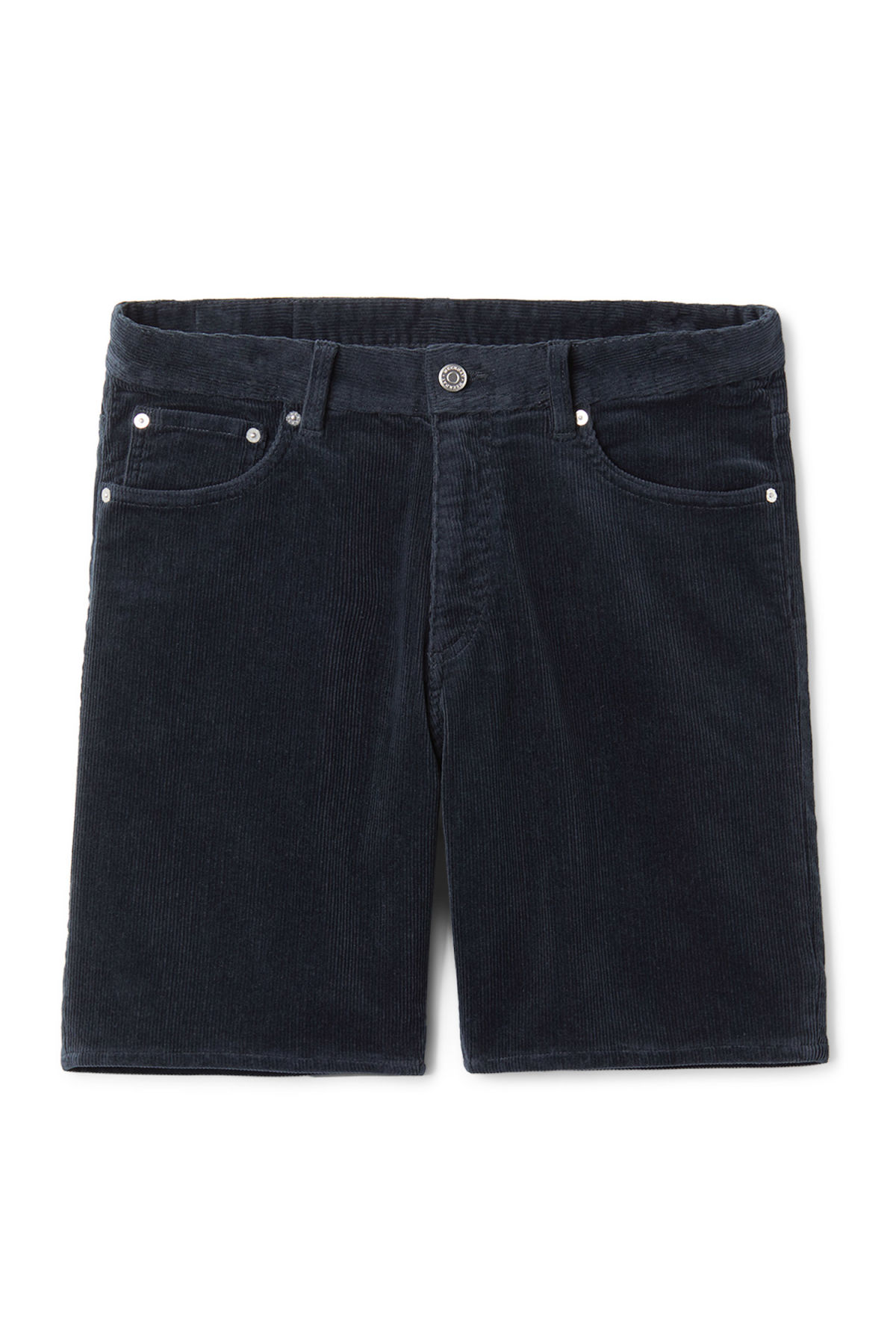 Front image of Weekday lucas corduroy shorts in turquoise