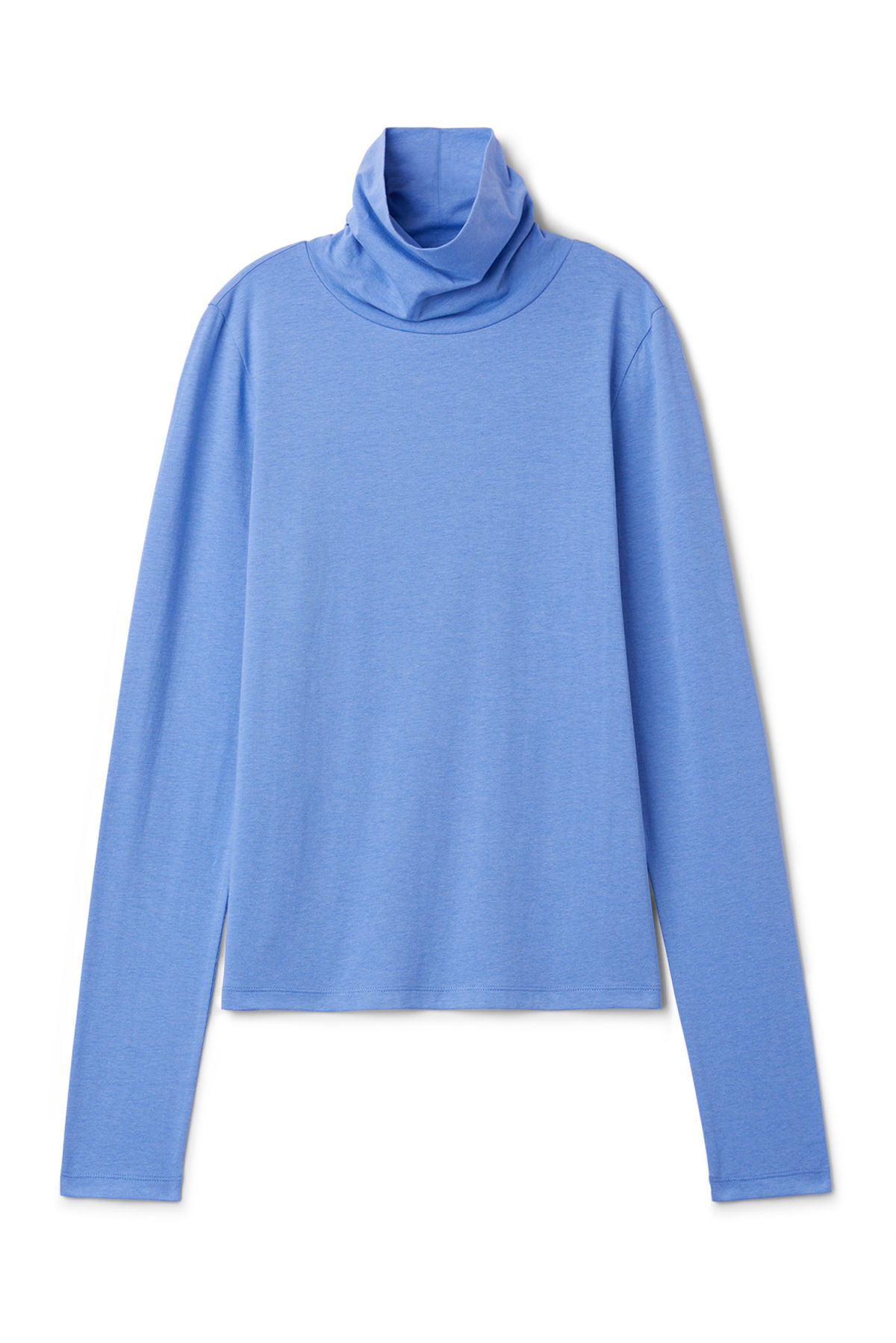 Front image of Weekday alice turtleneck  in blue
