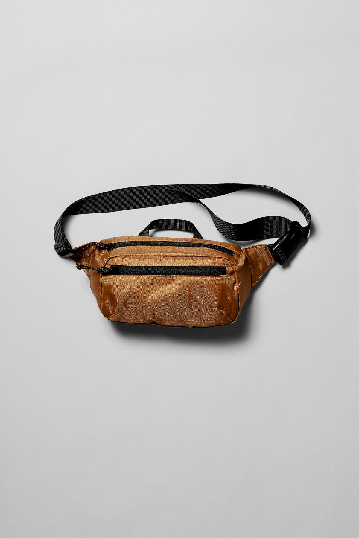Front image of Weekday trip mini waist bag in yellow