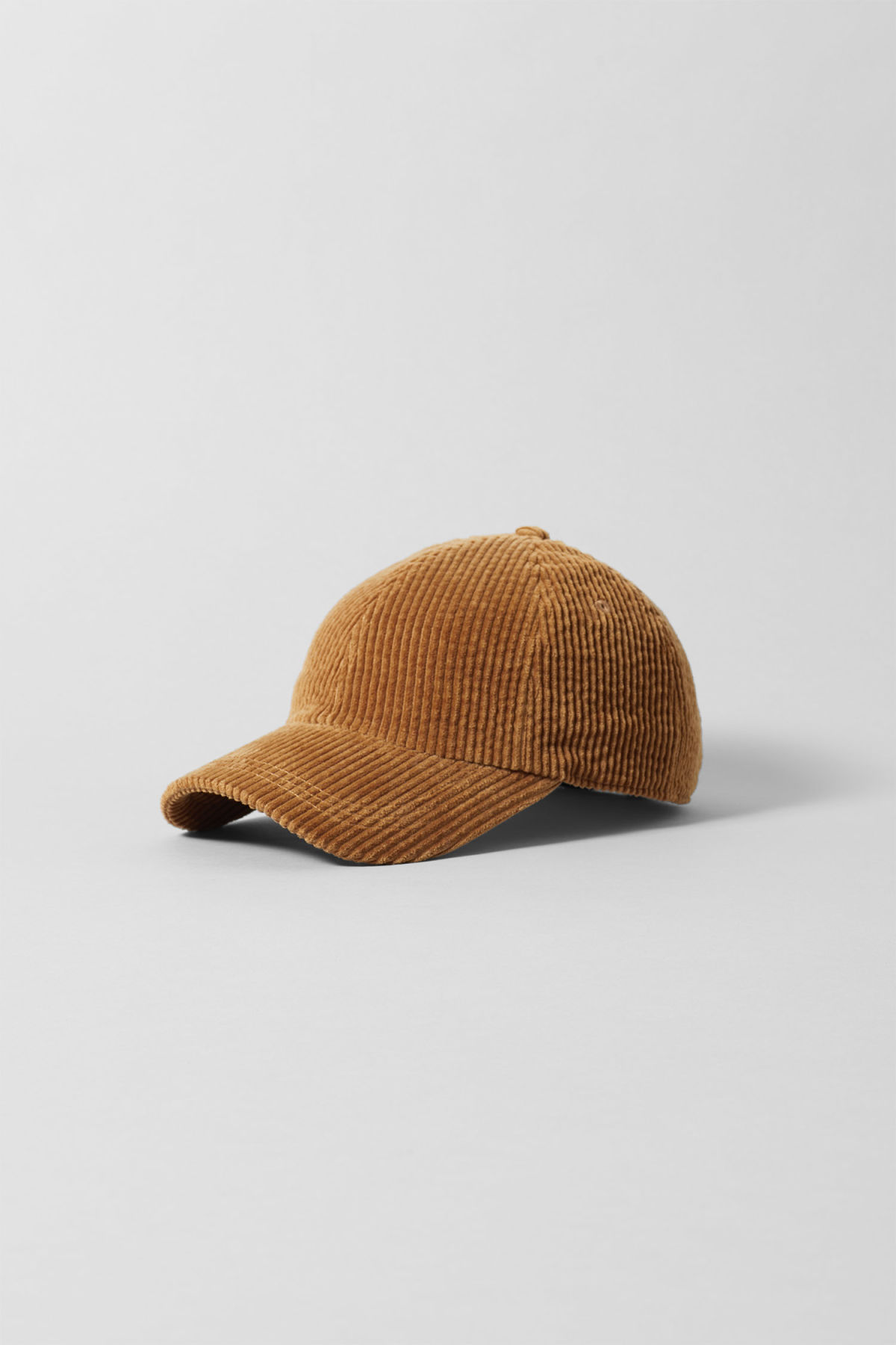 Front image of Weekday cord cap in beige
