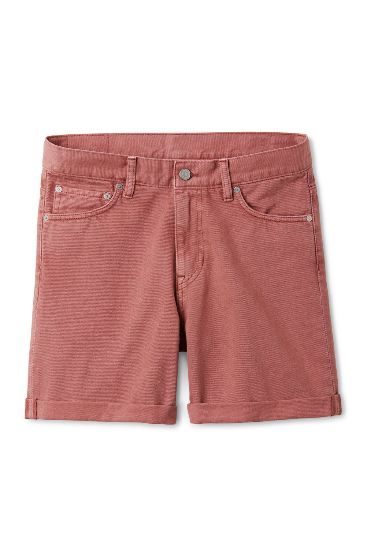 Front image of Weekday beach day rose shorts in orange