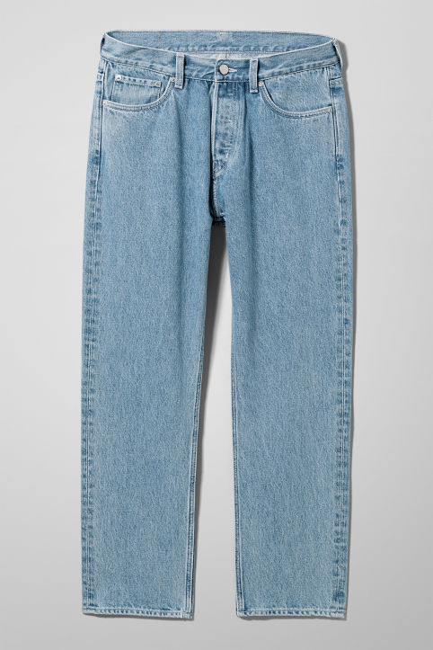 Vacant Cropped Sky Blue Jeans
