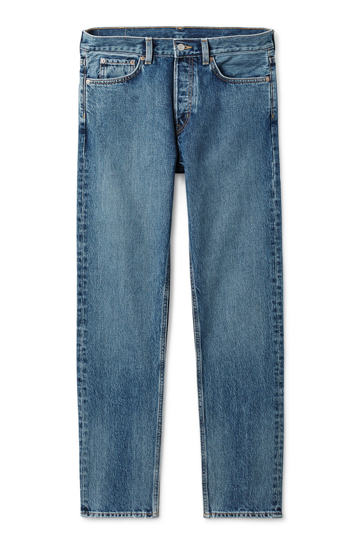 Front image of Weekday pine marwin blue jeans in blue