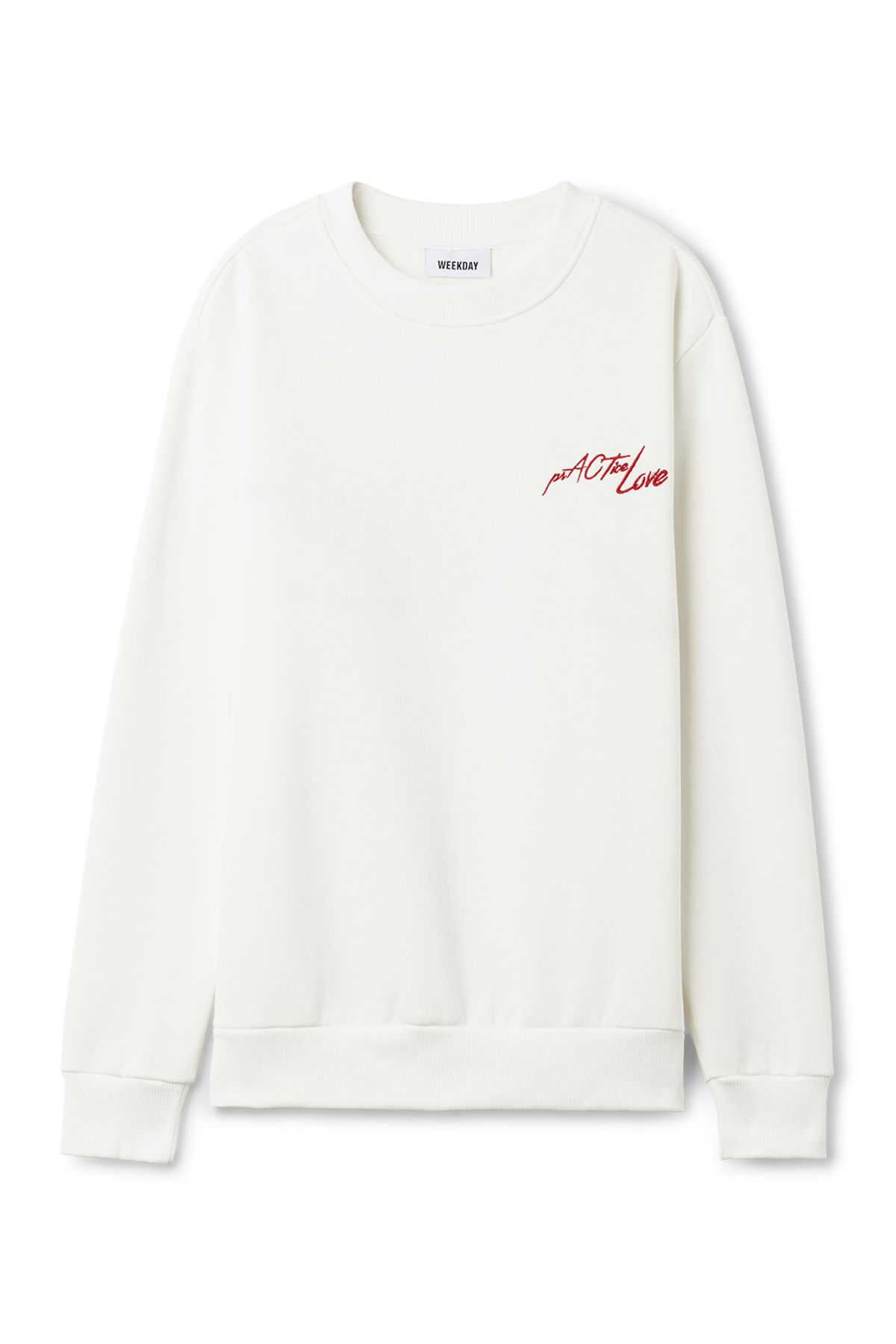 WeekdaySTEVE - Sweatshirt - white Cj1mitpjvV