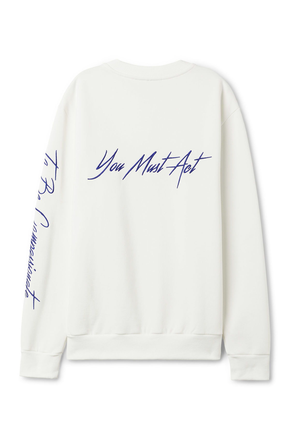 Back image of Weekday steve printed sweatshirt in white