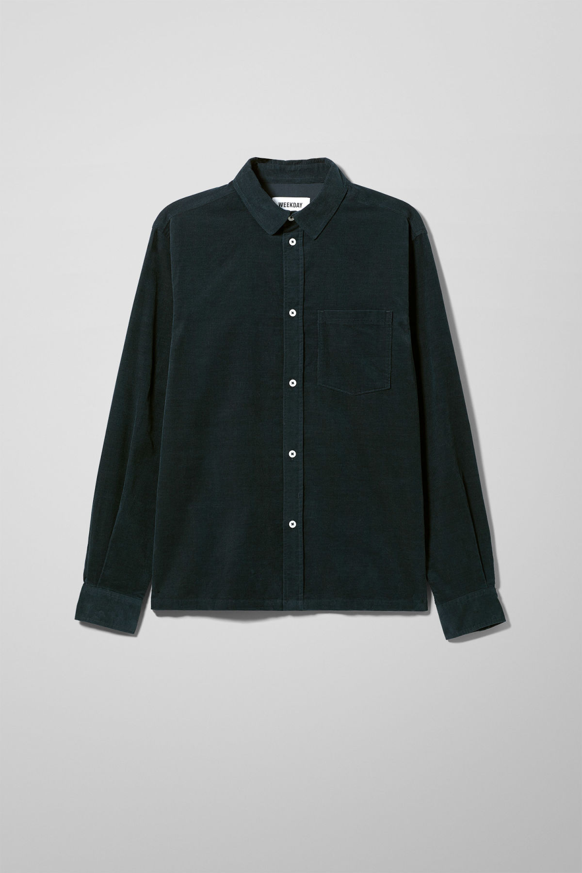 Front image of Weekday wise cord shirt in blue