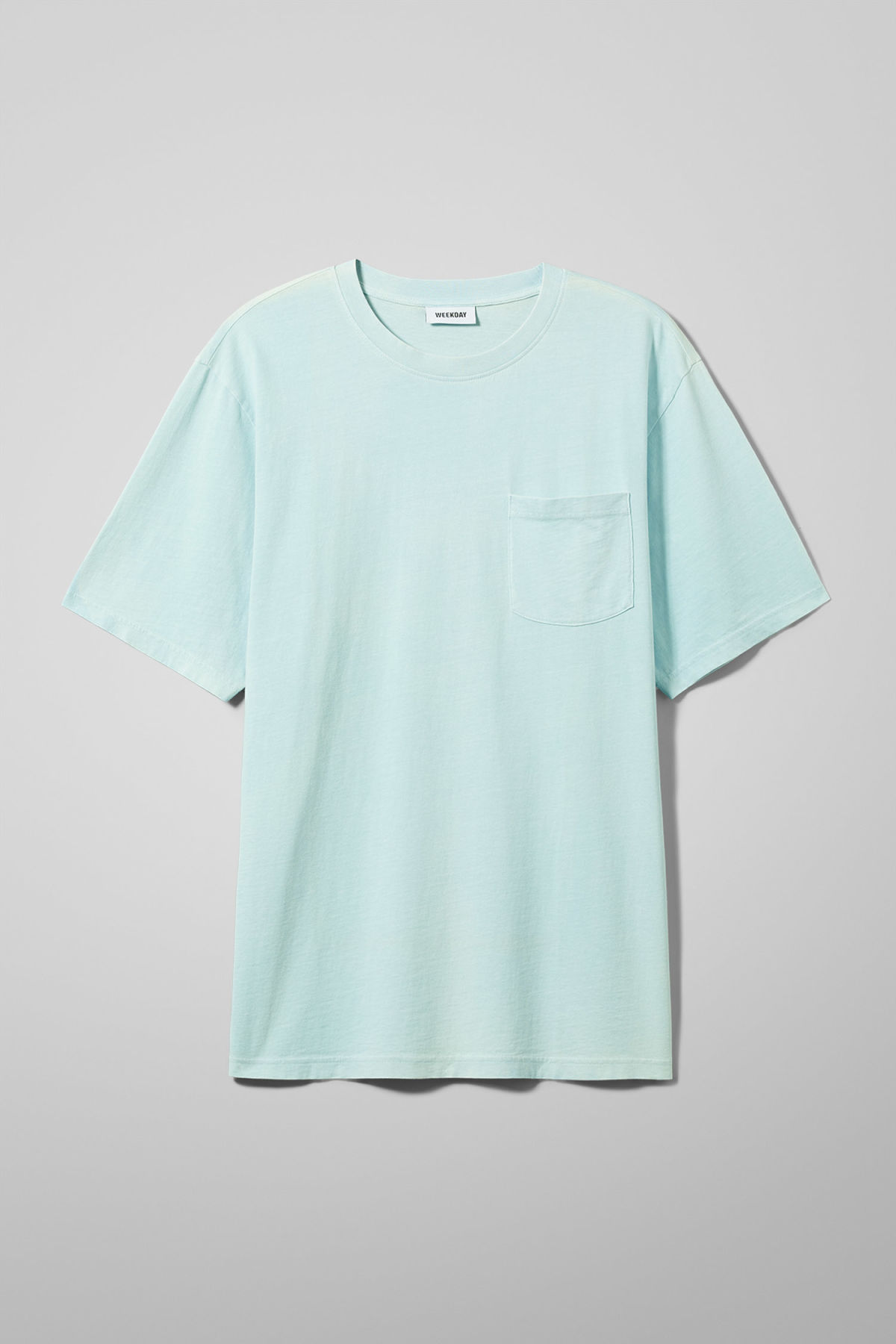 Front image of Weekday heat t-shirt in green