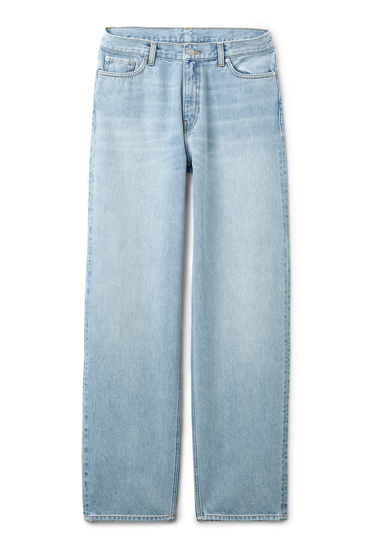 Front image of Weekday rail miami blue jeans in blue