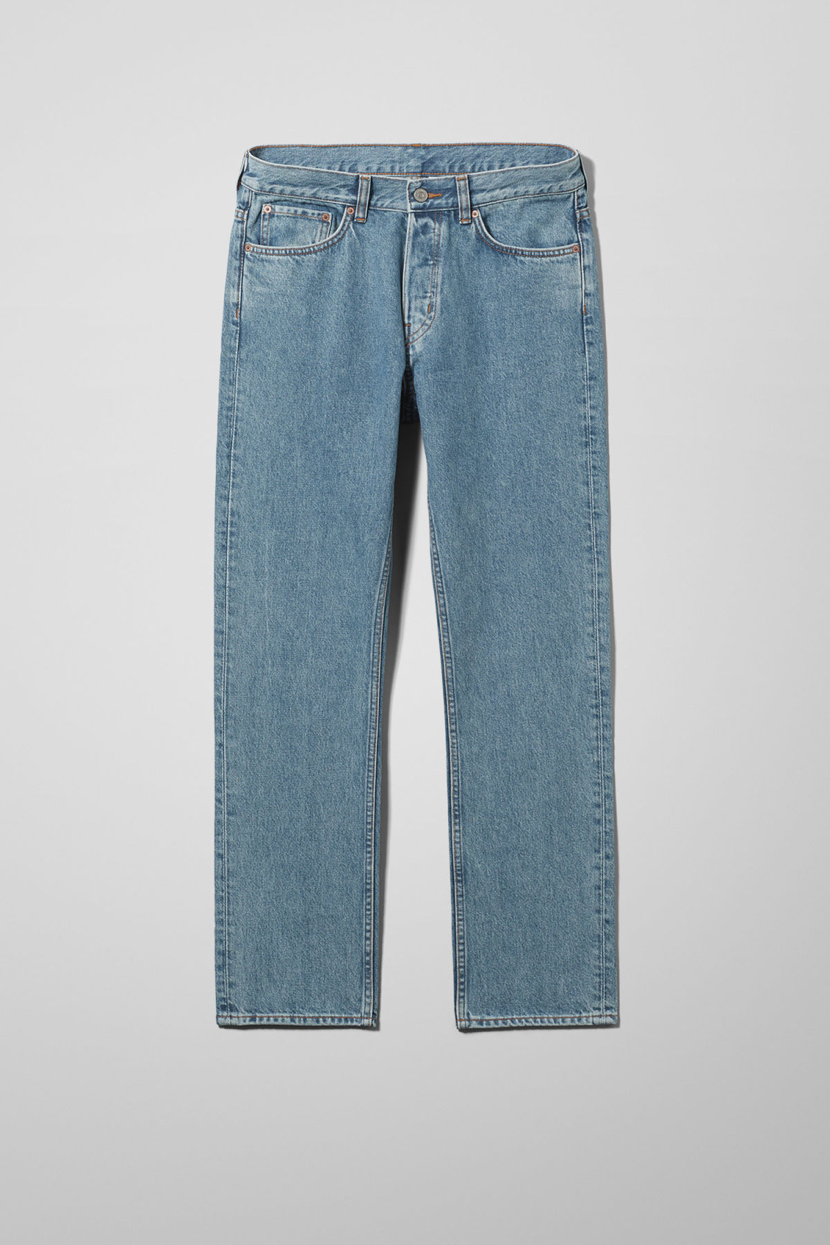 Front image of Weekday vacant arizon blue jeans in blue