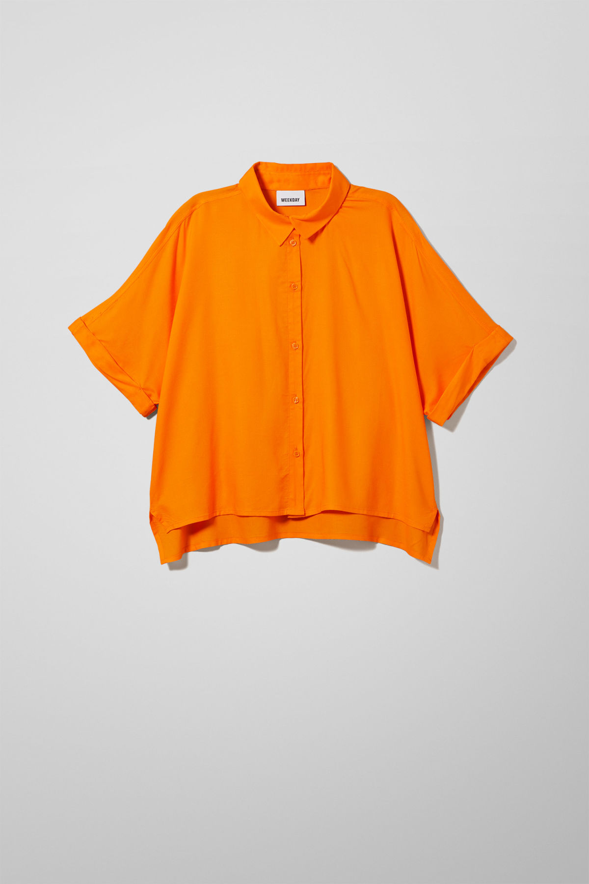 Front image of Weekday groove blouse in orange