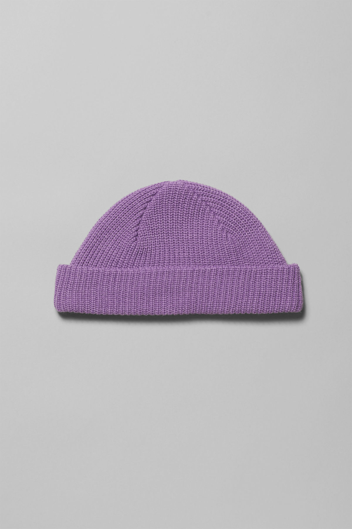 Front image of Weekday stan beanie in purple