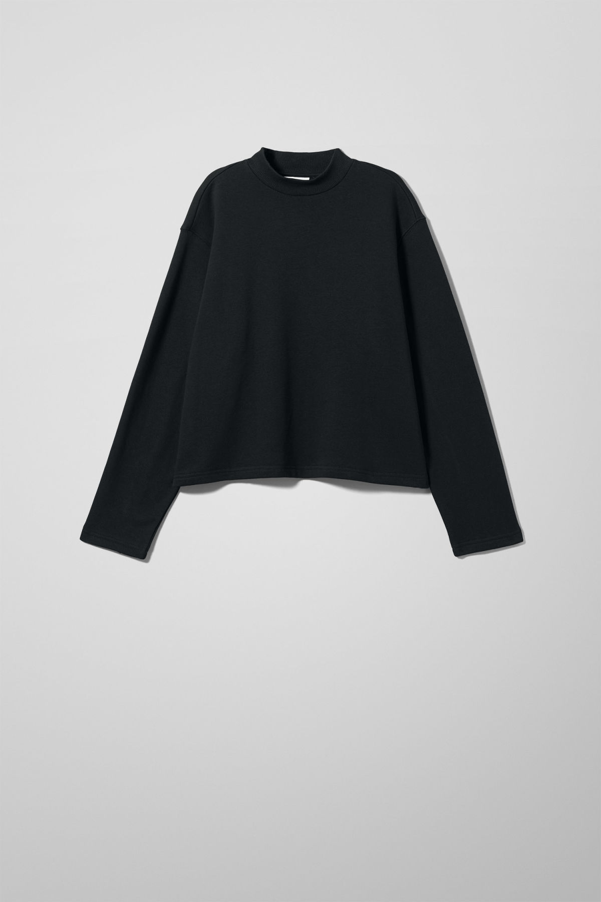 Front image of Weekday vinci sweatshirt in black