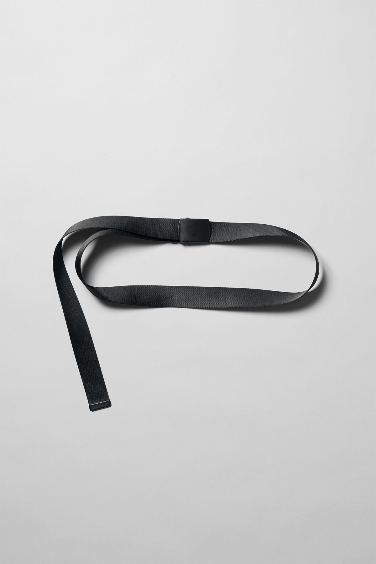 Front image of Weekday tony belt in black