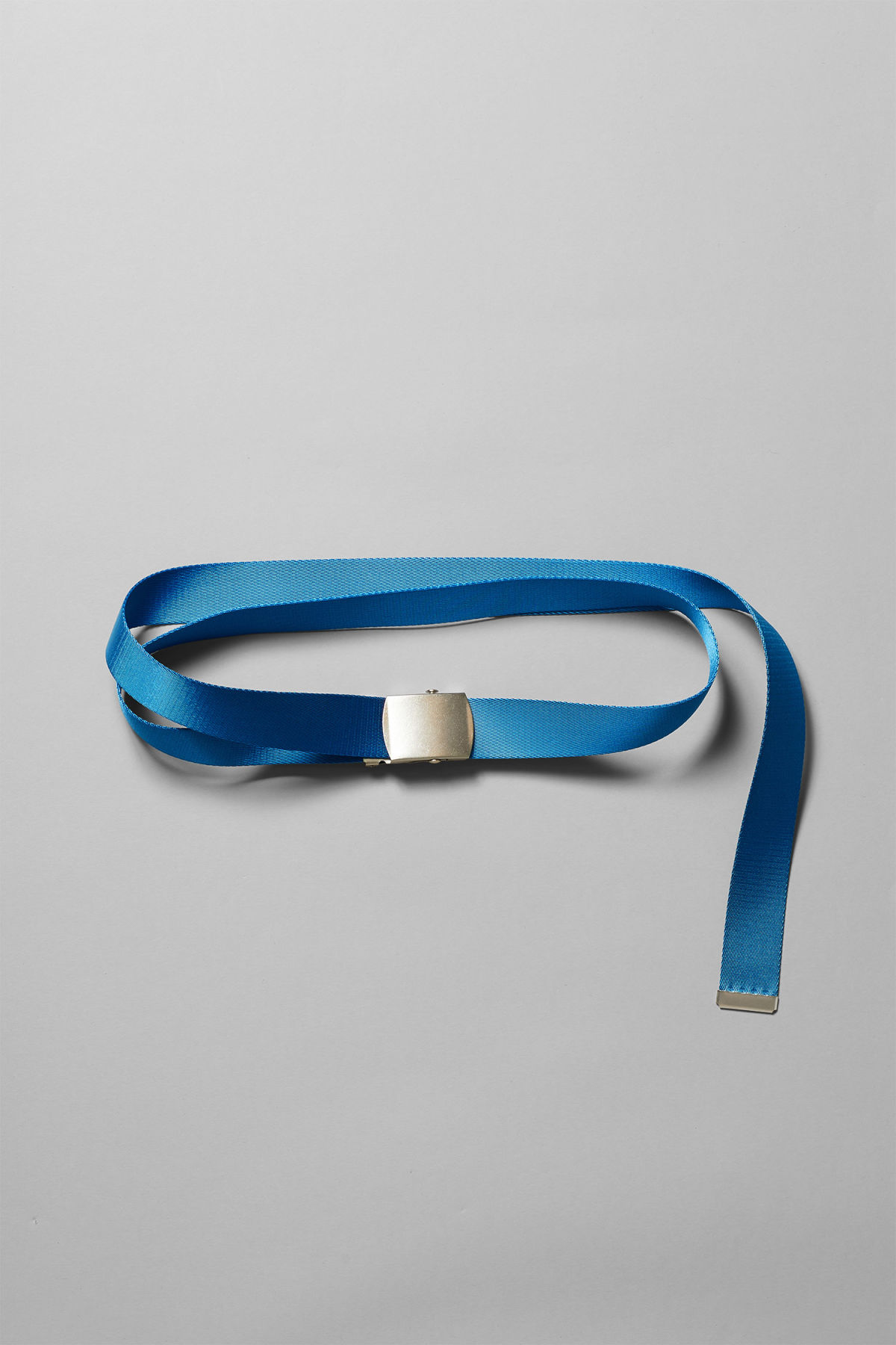 Front image of Weekday tony belt in blue