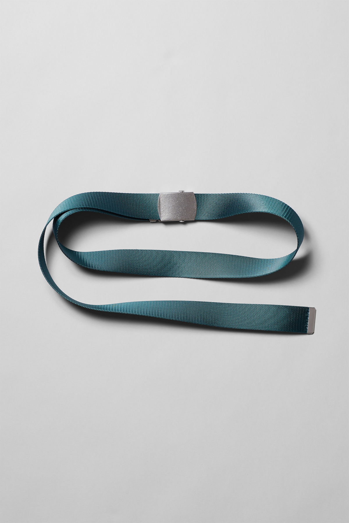 Front image of Weekday tony belt in turquoise