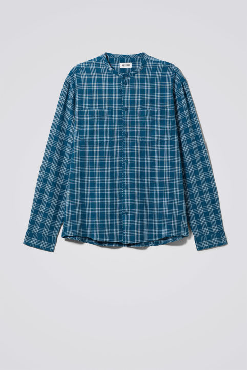 Weekday Curly Check Linen Shirt