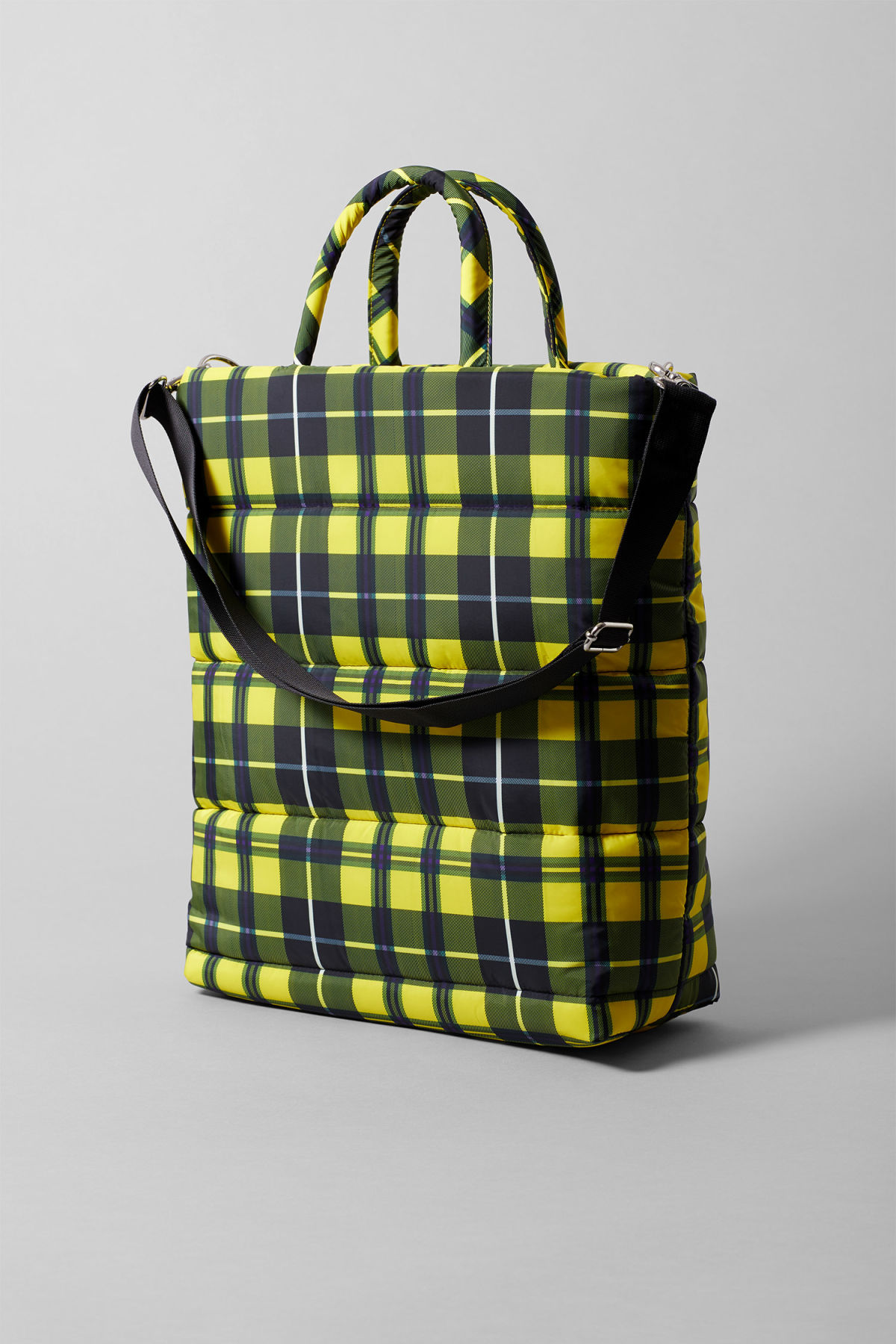 Front image of Weekday puff tote in yellow