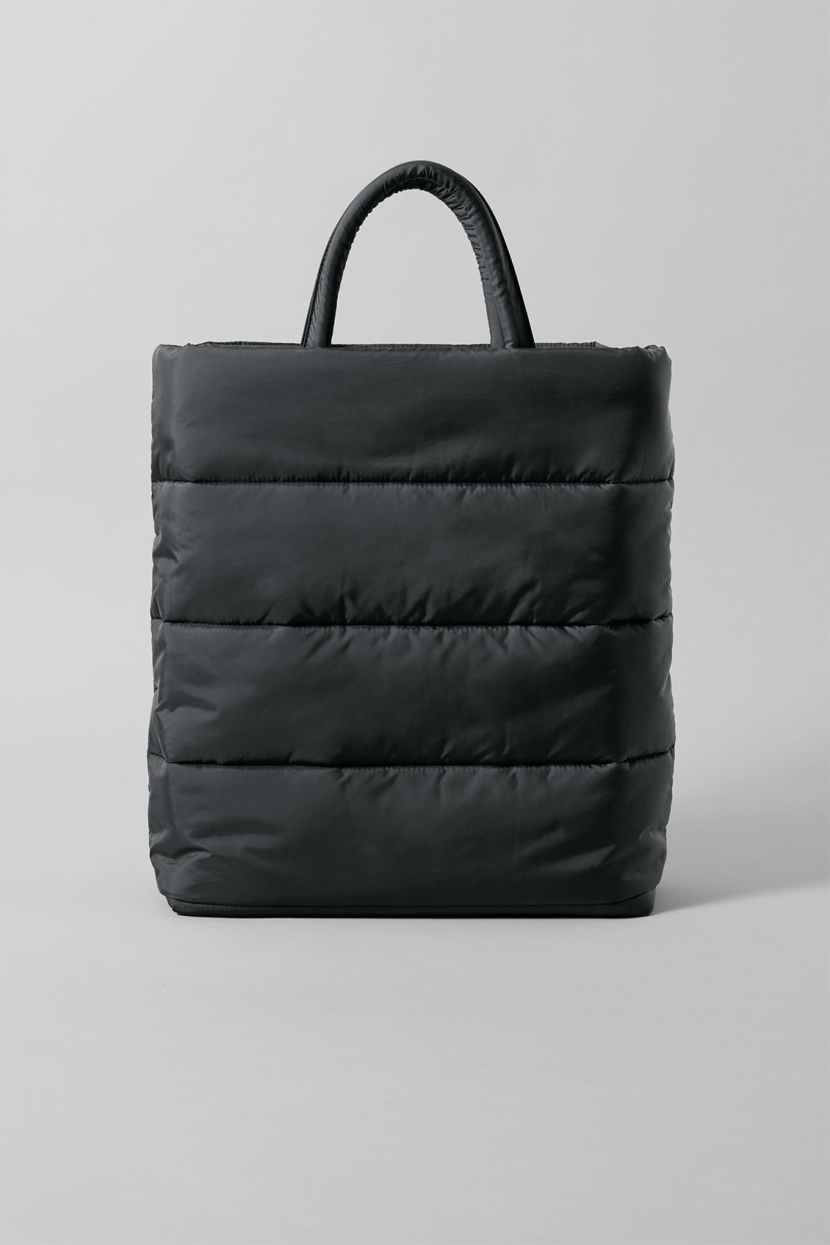 Side image of Weekday puff tote in black