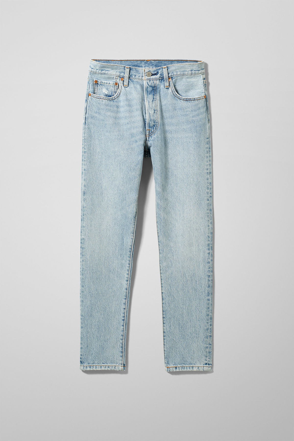 Front image of Weekday 501 skinny lovefool jeans in blue