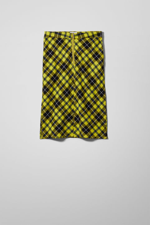 Weekday Motora Checked Skirt