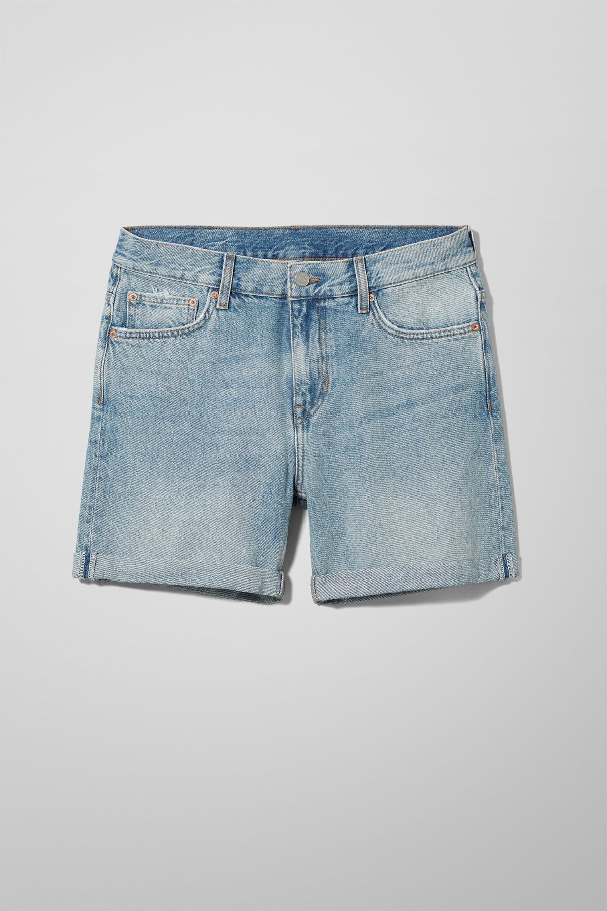 Front image of Weekday beach day week blue shorts in blue