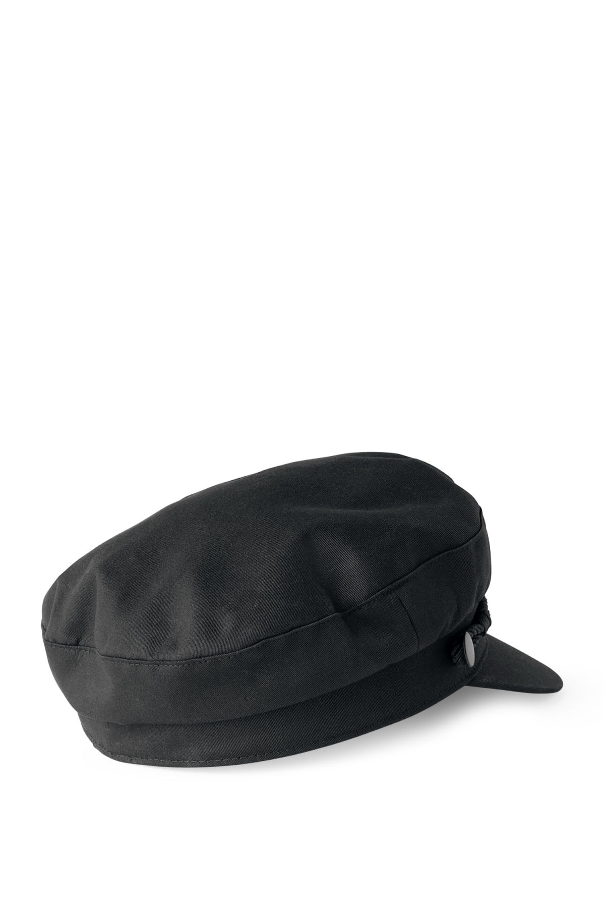 Back image of Weekday sailor cap in black