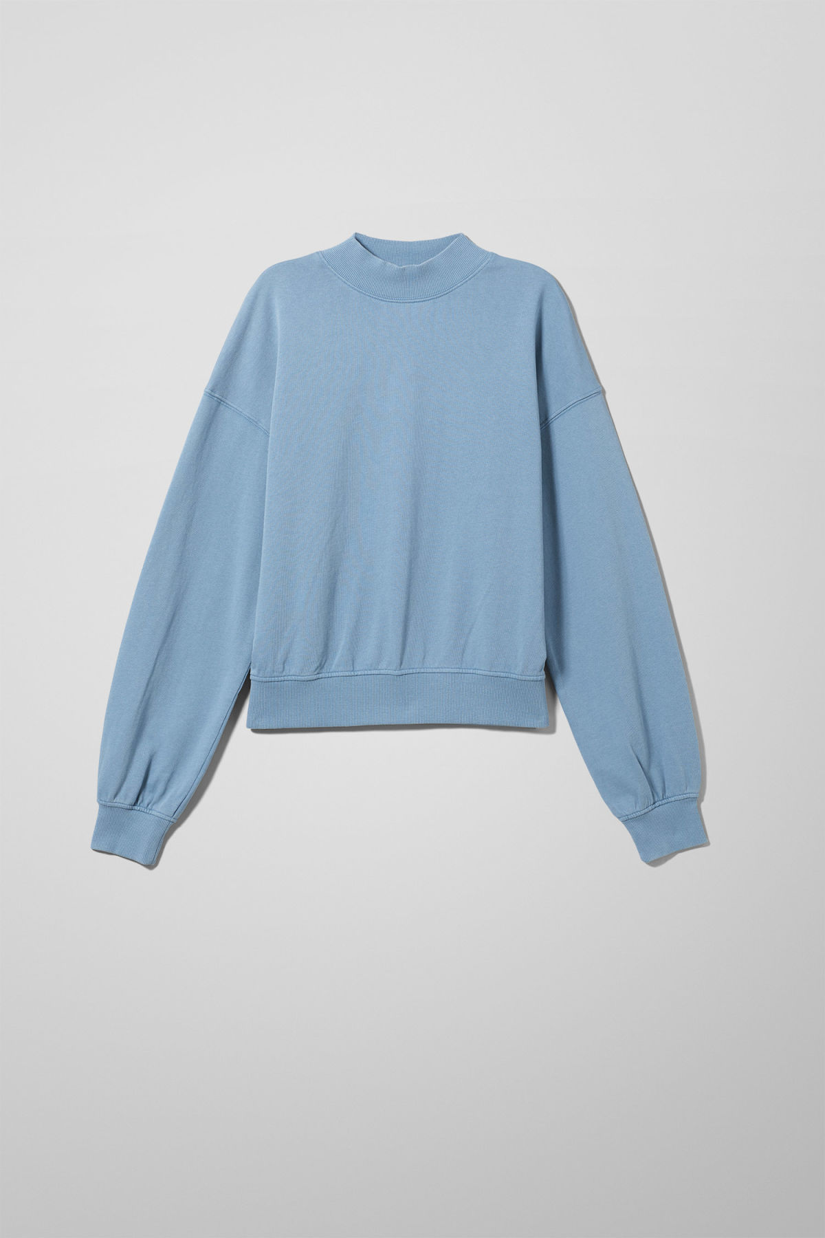 Front image of Weekday gaida sweatshirt in blue