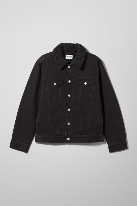 Weekday Single Black Pile Jacket
