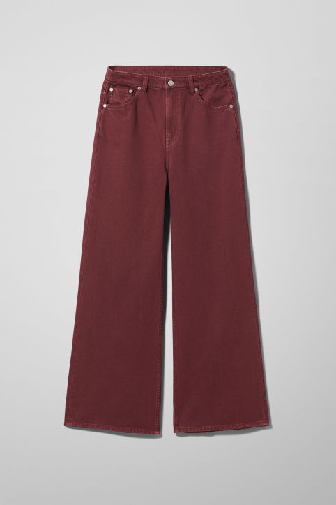 Weekday Ace Burgundy Jeans