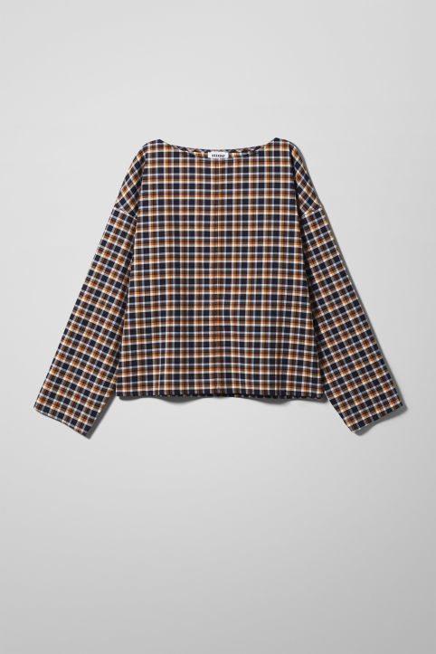 Weekday Sally Check Woven Top