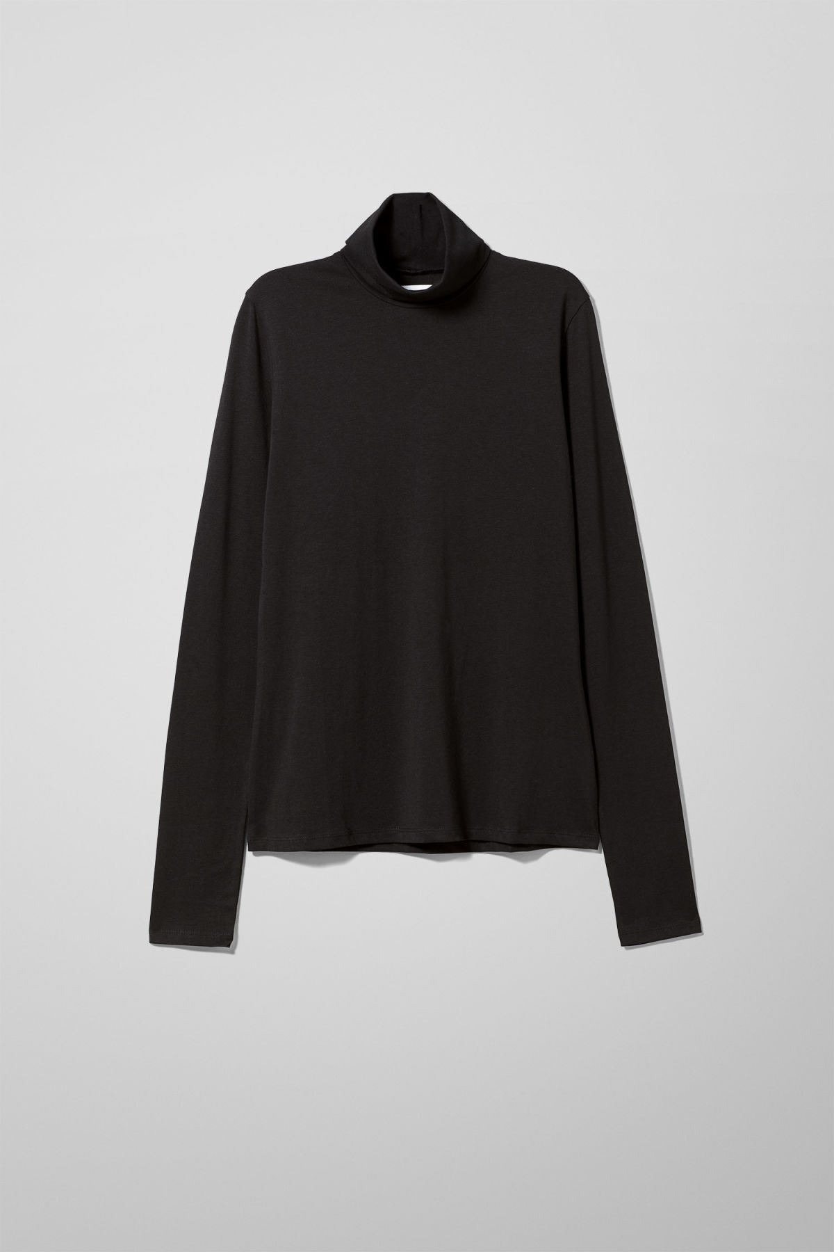 Stillife Front Image of Weekday Chie Turtleneck in Black