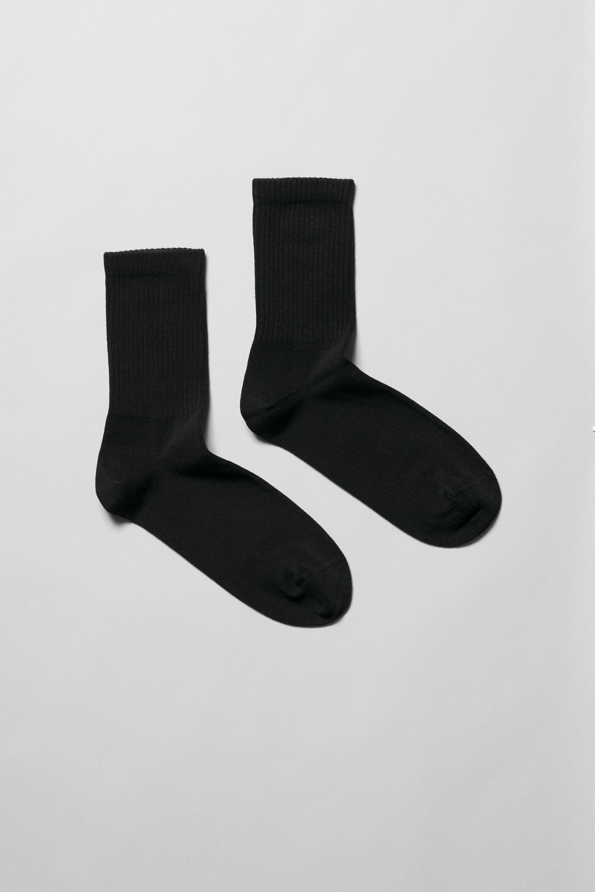 Front image of Weekday eleven socks in black