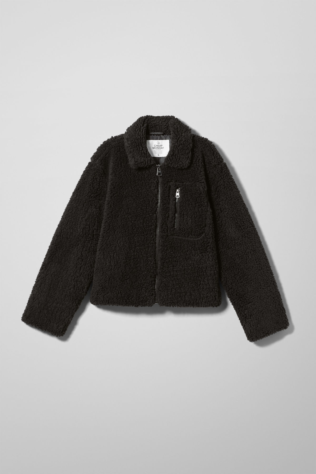 Front image of Weekday function jacket in black