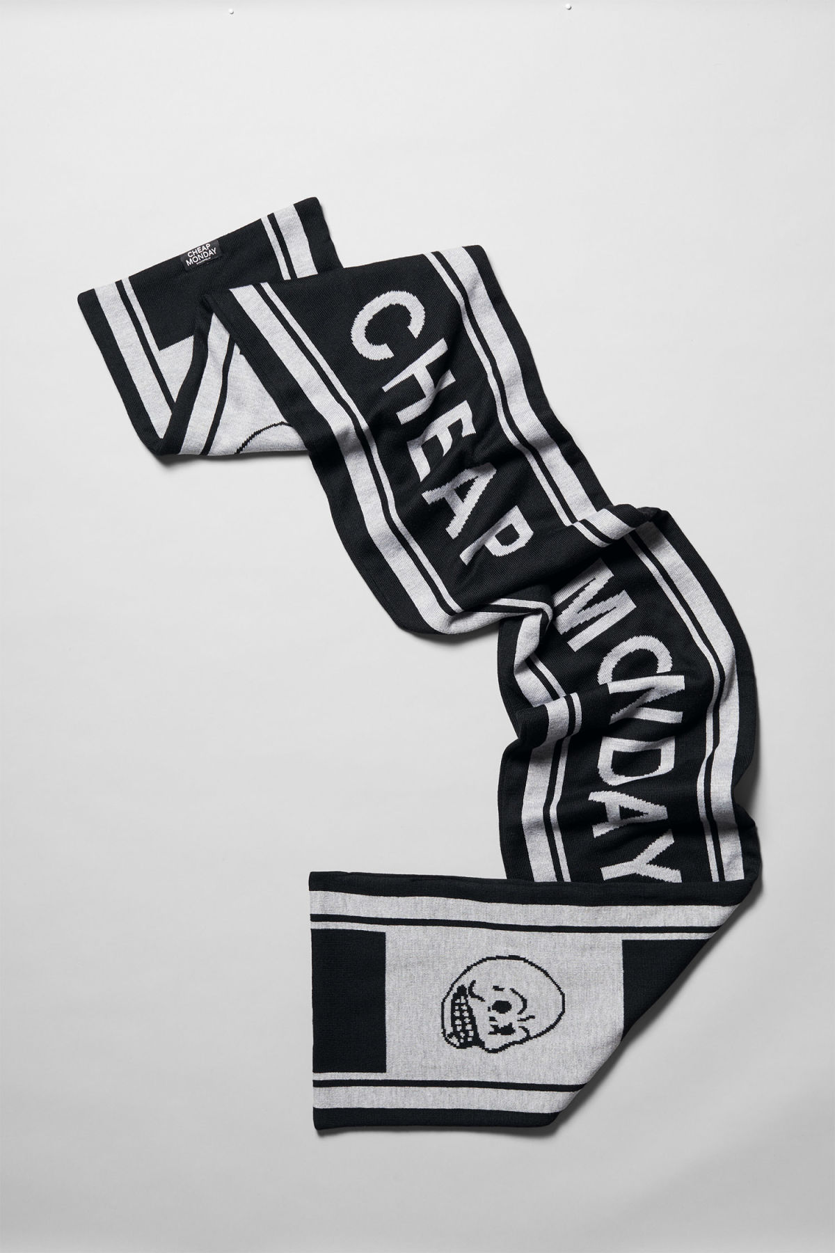 Back image of Weekday cheap logo scarf in black