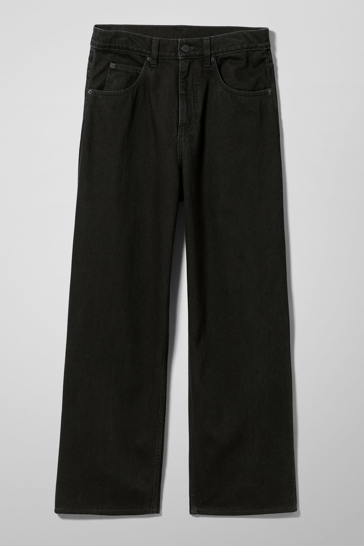 Front image of Weekday bez black jeans in black