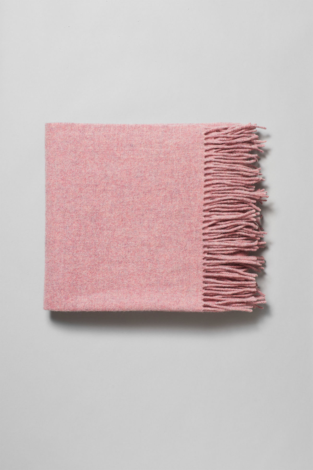 Front image of Weekday tuva wool shawl  in pink