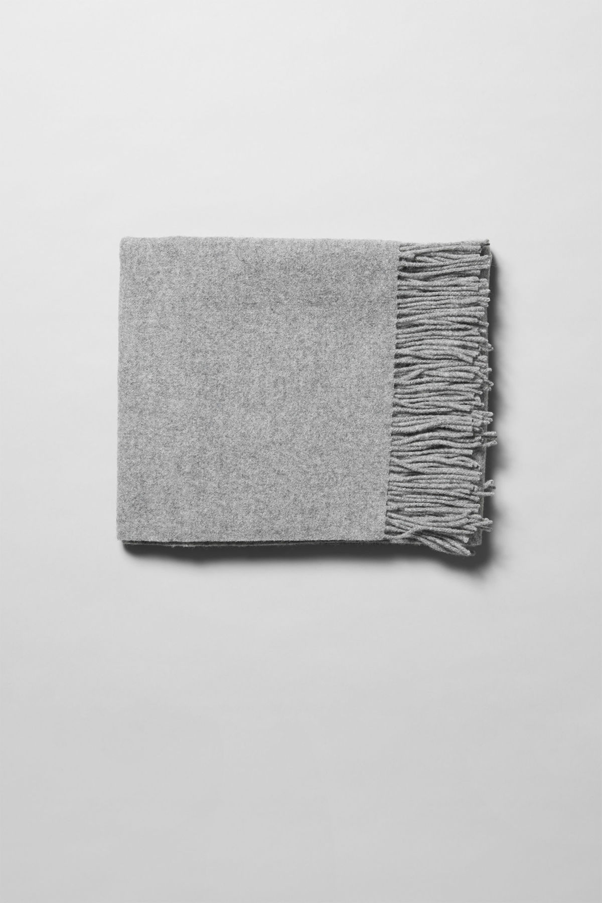 Front image of Weekday tuva wool shawl  in grey