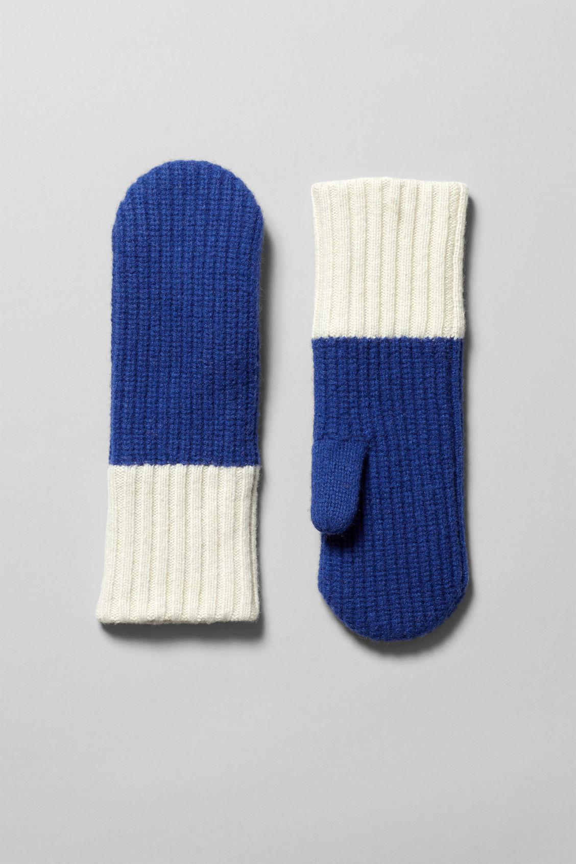 Saipal Knit Mittens - Blue - Accessories - Weekday