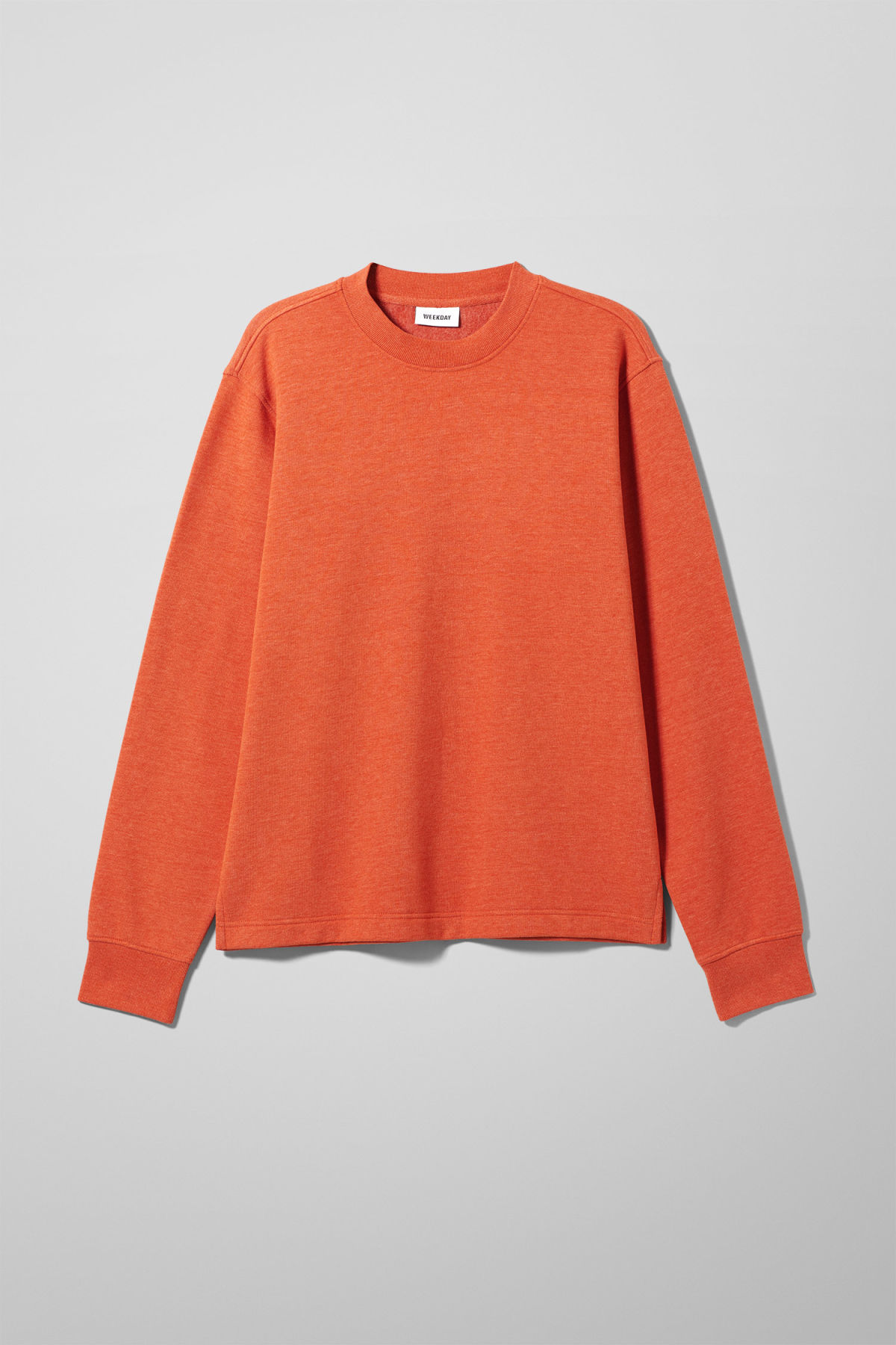 Front image of Weekday score sweatshirt in orange