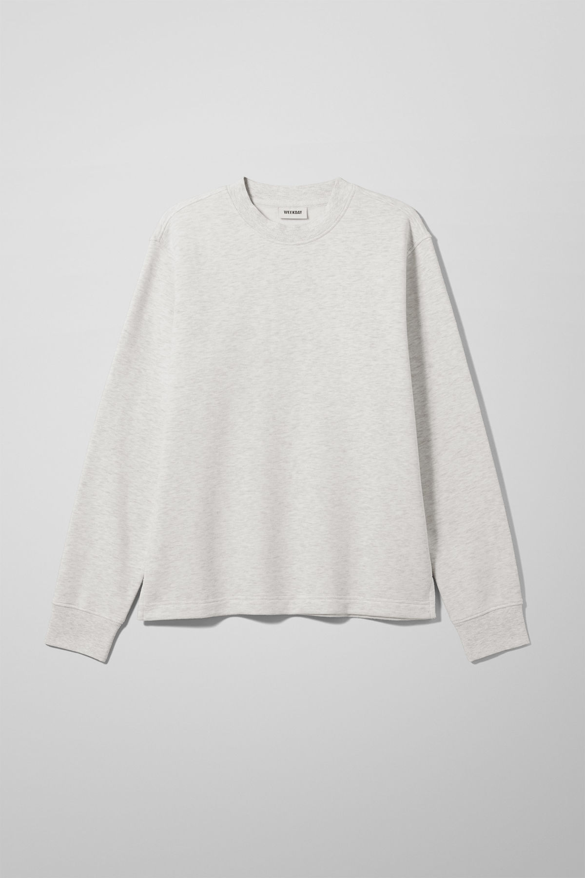 Front image of Weekday score sweatshirt in white