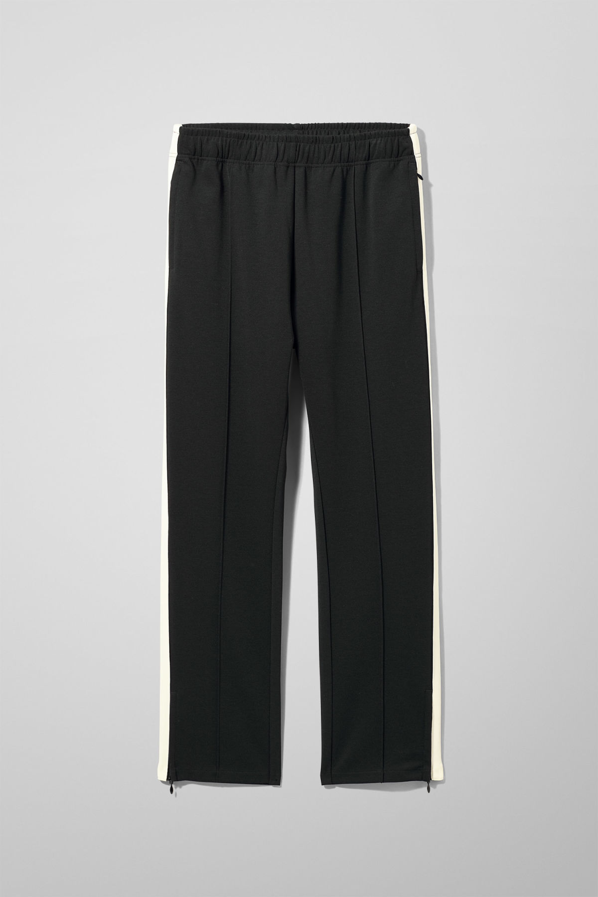 Front image of Weekday local sweatpants in black