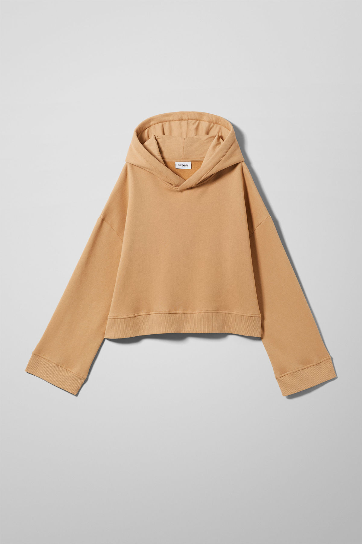 Front image of Weekday enter sweatshirt in beige