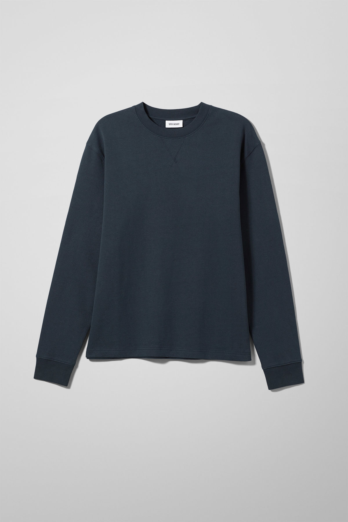 Front image of Weekday jeffrey sweatshirt in blue